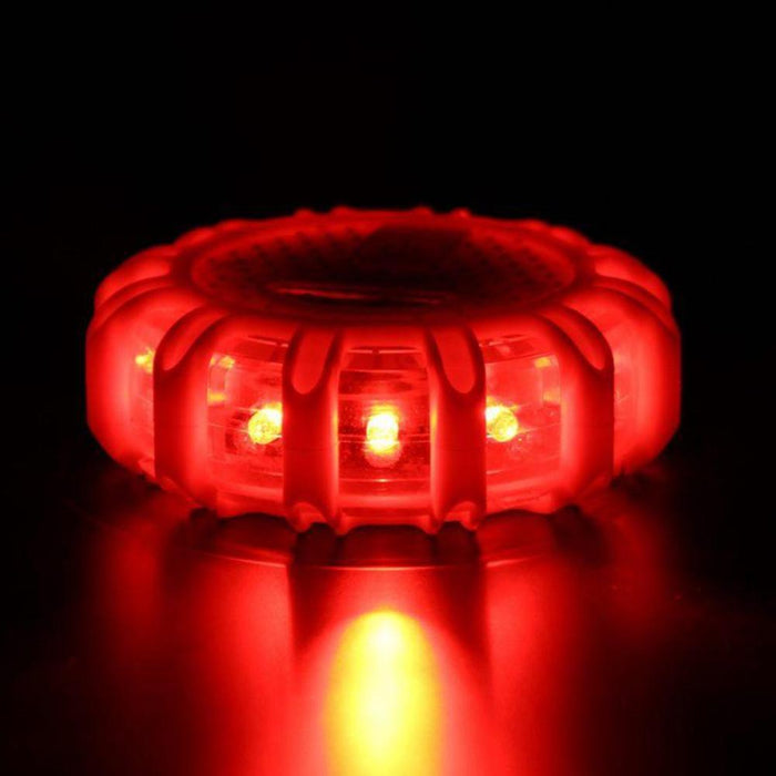 LED Road Flares Emergency Disc Beacon Roadside Safety Light