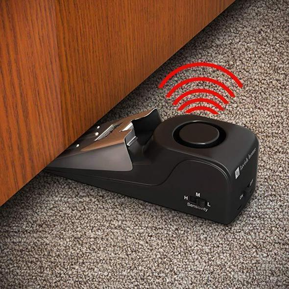 Wireless Vibration Triggered Alert Security System Door Stop Blocking Alarm - Smart Living Box