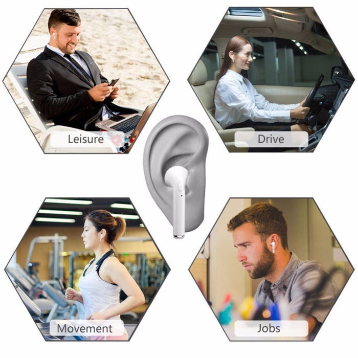 Wireless Headset Bluetooth Earphones Headphones For iPhone 6 7 8 Plus X XR Android - Smart Living Box
