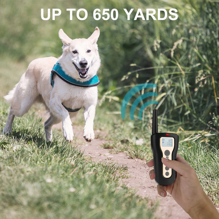 Waterproof Dog Shock Training Collar Rechargeable LCD Remote Control 330 Yards - Smart Living Box