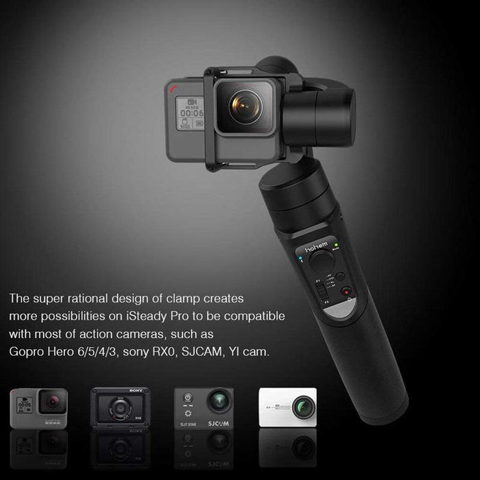 Hohem iSteady Pro Gimbal 3-Axis Handheld Stabilizer for GoPro Hero  7/6/5/4/3 for Sony RX0 for SJCAM YI as for Festival Gift