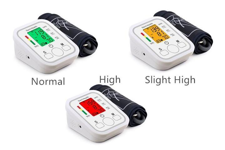 LCD Digital Arm Cuff Blood Pressure Monitor Heart Rate Beat Pulse Meter Measure - Smart Living Box