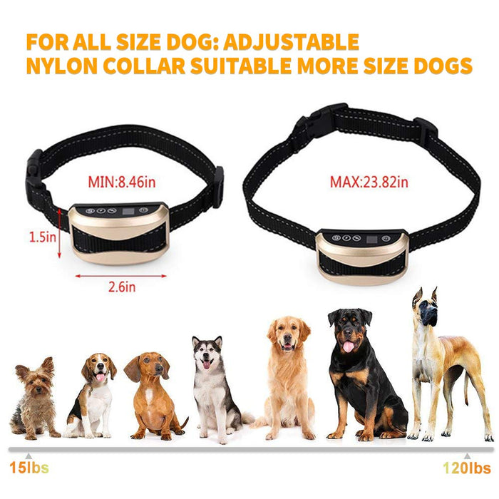 Pet Dog Safety Anti Bark Collars Rechargeable Vibration/Electric Shock Waterproof Stop Barking Dog Waterproof Training Collars