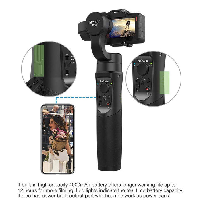 Hohem iSteady PRO Handheld 3Axis Gimbal Stabilizer for GoPro Hero 6/5/4/3 Camera  Free Shipping - Mobile Tribe