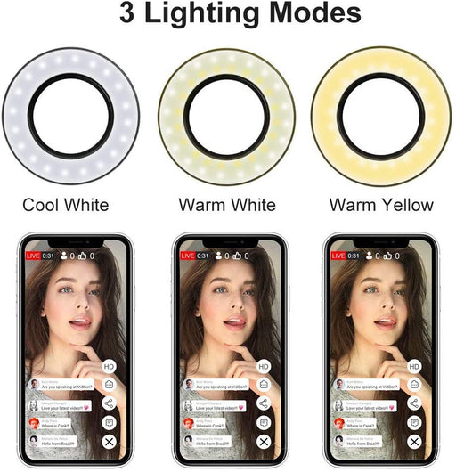 Selfie Ring Light with Cell Phone Holder Stand for Live Stream/ Makeup /YouTube - Smart Living Box