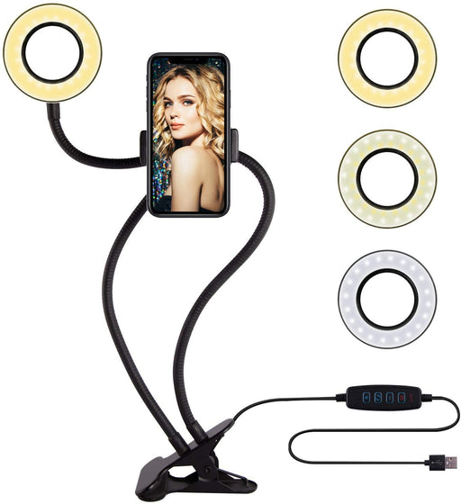 Selfie Ring Light with Cell Phone Holder Stand for Live Stream/ Makeup /YouTube