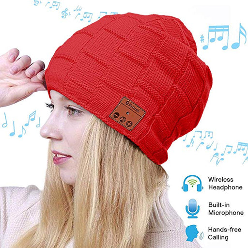 Smart Wireless Bluetooth Knitted Music Beanie Hat Headphone Cap Men / Women - Smart Living Box