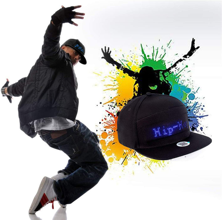 Animated LED Message Custom Hat LED Hiphop Hat Men Snapback Baseball LED Hat