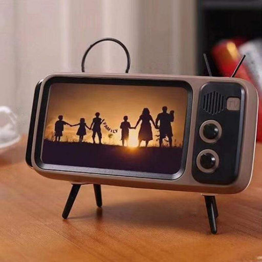 Retro TV Bluetooth Speaker Mobile Phone Holder - Smart Living Box