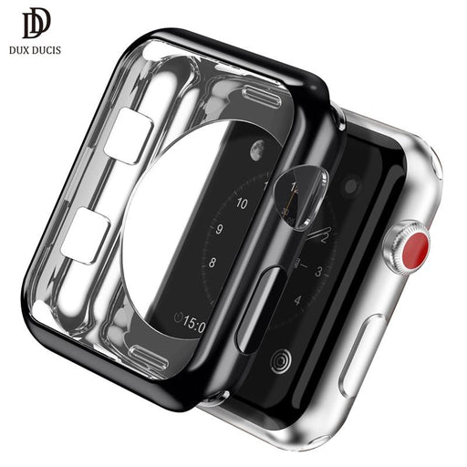 DUX DUCIS Soft Silicone Case Cover for Apple Watch Series 3 2 42mm 38mm Plating Protective Cover