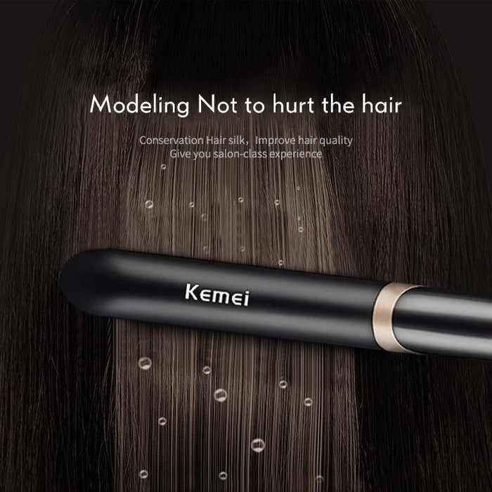 Kemei Ceramic Tourmaline Ionic Flat Iron Hair Straightener