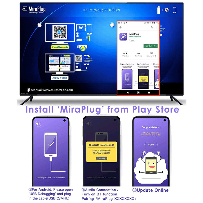 MHL Micro USB to HDMI Adapter Converter Cable for Android Phone Smartphone HD TV