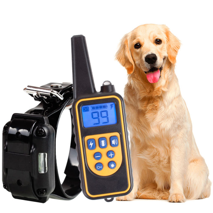 800m Electric Dog Training Collar Pet Remote Control Waterproof Rechargeable with LCD Display for All Size Shock Vibration Sound