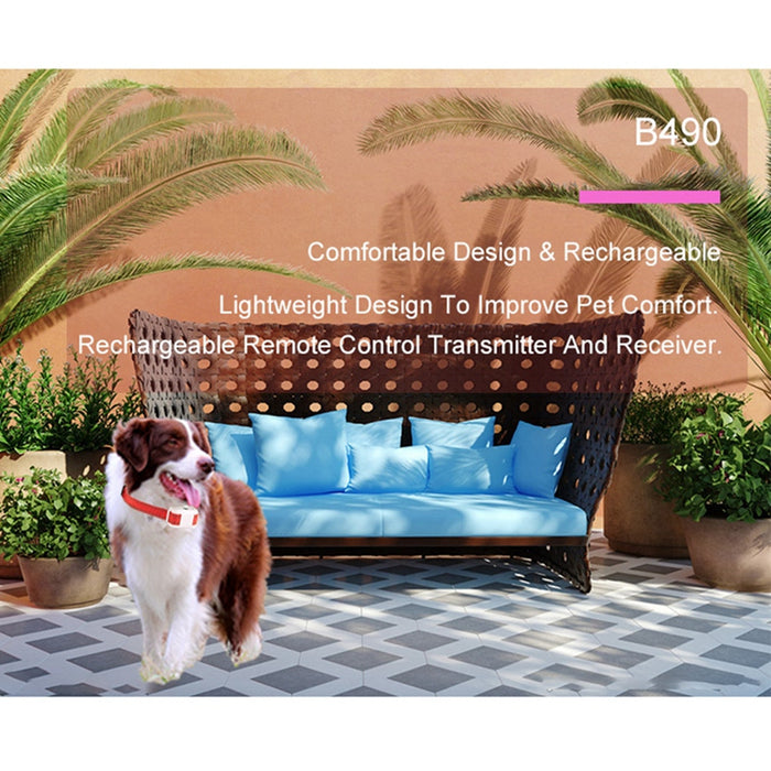 Rechargeable No Bark Mist Spray Dog Training Collar Using Humane and Safe Pet Citronella