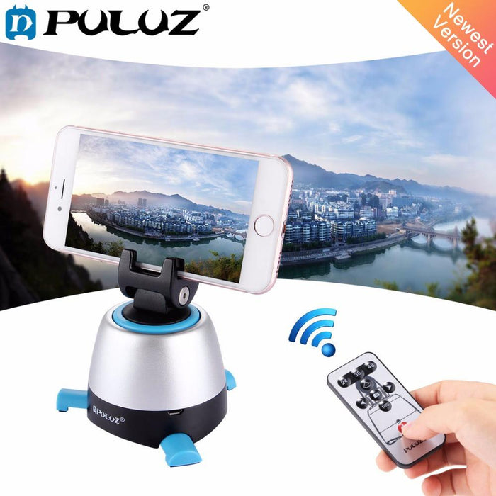 PULUZ 360 Degree Rotation Panning Rotating Panoramic tripod head with Remote Controller Stabilizer for Iphone GoPro DSLR Cameras