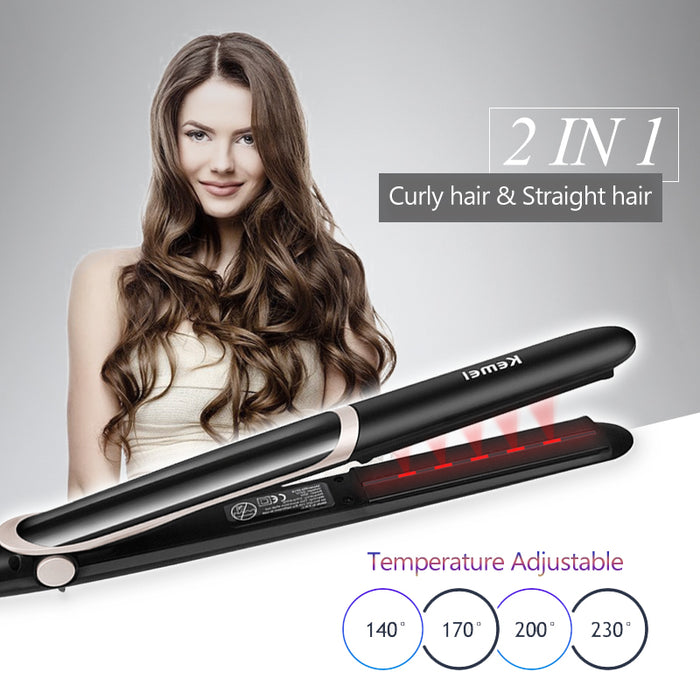 Kemei Ceramic Tourmaline Ionic Flat Iron Hair Straightener - Smart Living Box