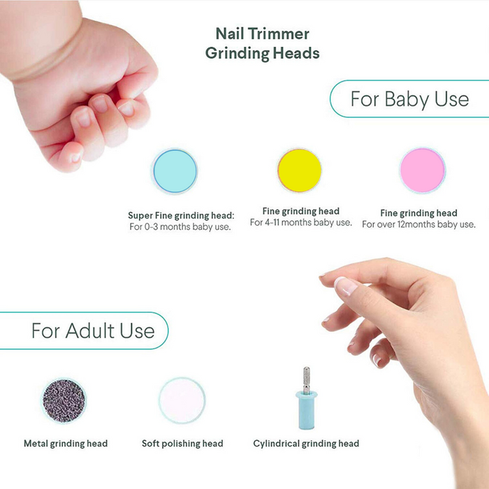 Safety Electric Nail Clipper Cutter Baby Nail Trimmer Kids Infant Nail Care Tool - Smart Living Box