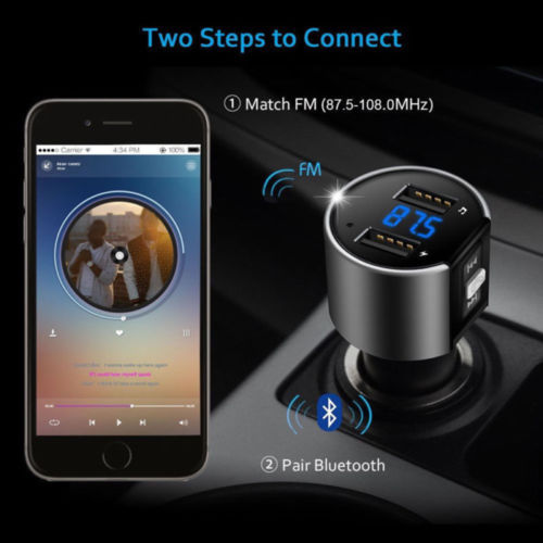 FM Transmitter Wireless Bluetooth Car Kit Radio MP3 Player USB Charger Music LCD - Smart Living Box