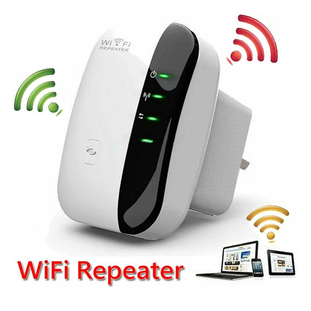 300M WiFi Repeater 802.11a/b/g/n Network Extender Amplifier Wall Plug Design Wifi Signal Booster for Office Home - Smart Living Box