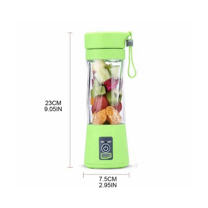 6 Blades Portable Blender Bottle Travel USB Electric Juicer Cup Machine Electric