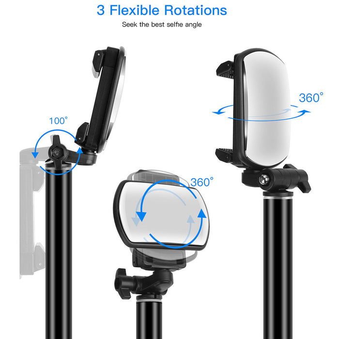 Foldable Bluetooth Extendable Selfie Stick Tripod Remote 360° Clamp iOS Android