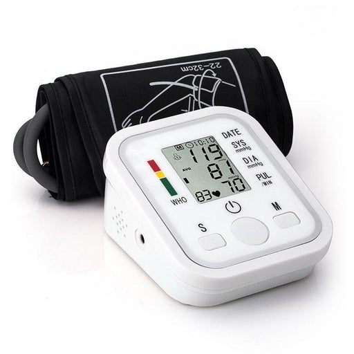 LCD Digital Arm Cuff Blood Pressure Monitor Heart Rate Beat Pulse Meter Measure