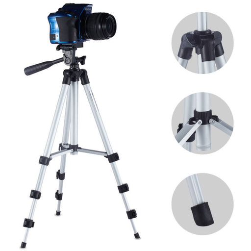 Professional Camera Tripod Stand Holder Mount for iPhone Samsung Smart Phone +Bag