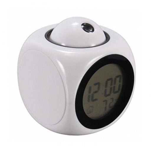 Digital Alarm Clock Multifunction With Voice Talking LED Projection Temperature - Smart Living Box