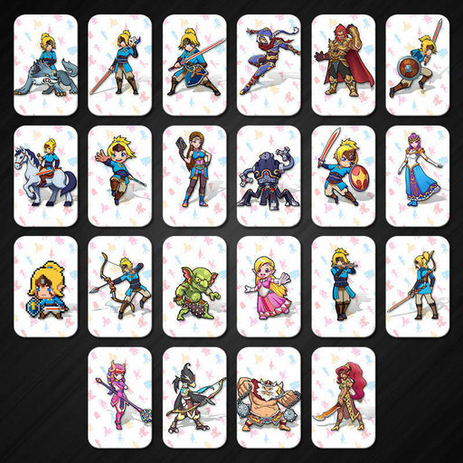 22 Full Set NFC PVC Tag Card ZELDA BREATH OF THE WILD WOLF LINK for Switch