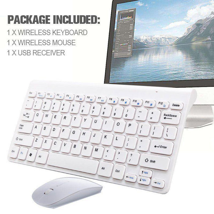 2.4G Ultra-Thin Wireless Keyboard Keypads + Mouse Combo With USB Receiver FOR PC