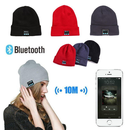 Smart Wireless Bluetooth Knitted Music Beanie Hat Headphone Cap Men / Women