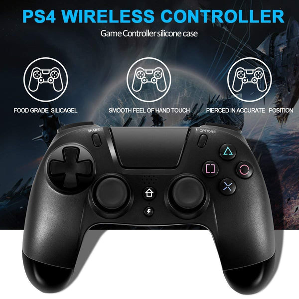 NEW Wireless Bluetooth Playstation 4 Controller DualShock for Sony PS4 Jet Black