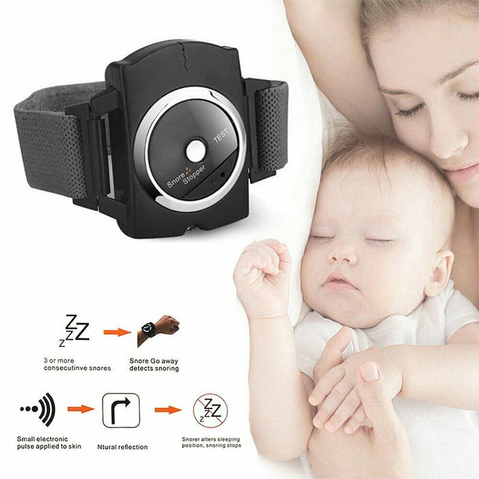 Snore Stopper Adjustable Wristband Bracelet Anti-Snore Aid Sleeping Device - Smart Living Box
