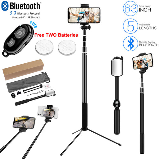 Foldable Bluetooth Extendable Selfie Stick Tripod Remote 360° Clamp iOS Android - Smart Living Box