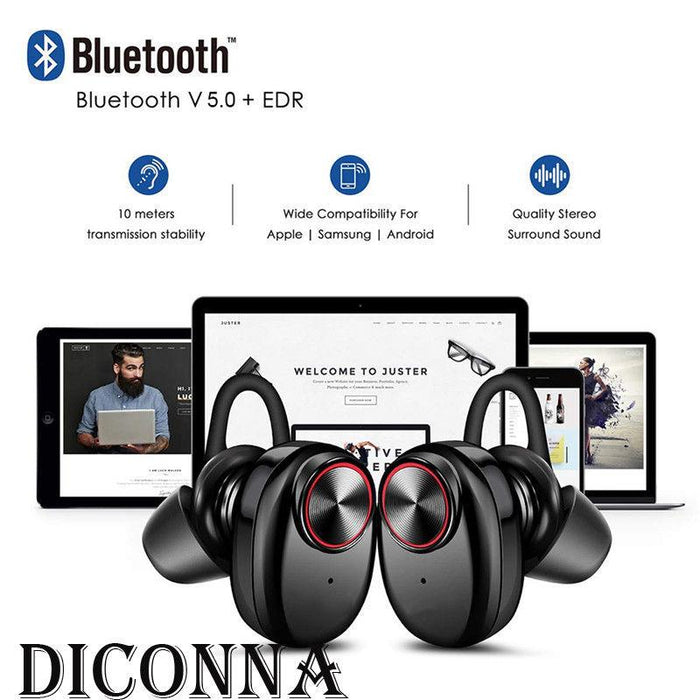 Bluetooth 5.0 Headset Mini TWS Twins V5 Wireless In-Ear Stereo Earphones Earbuds