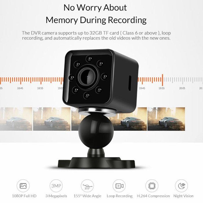 SQ13 Mini Spy Camera Wireless 1080P HD Hidden Night Vision Security Monitor ,Sport Action Camera ,DV Camcorder