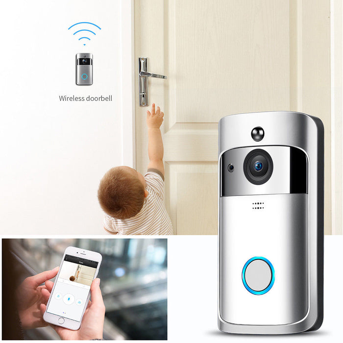 Smart Video Wireless WiFi Door Bell IR Visual Camera Record Security System Kit