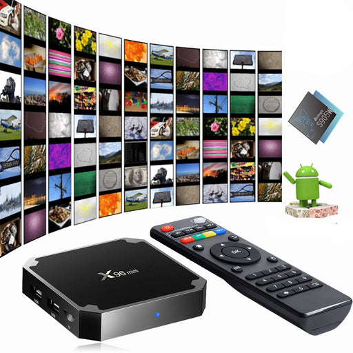 X96MINI Android 7.1.2 Smart TV BOX Quad Core HDMI 4K Media Player WIFI