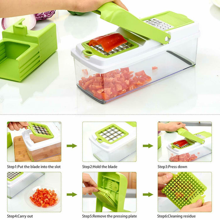 Multifunction Vegetable Chopper Food Fruit Dicer Cutter 10 in 1 Veggie Slicer