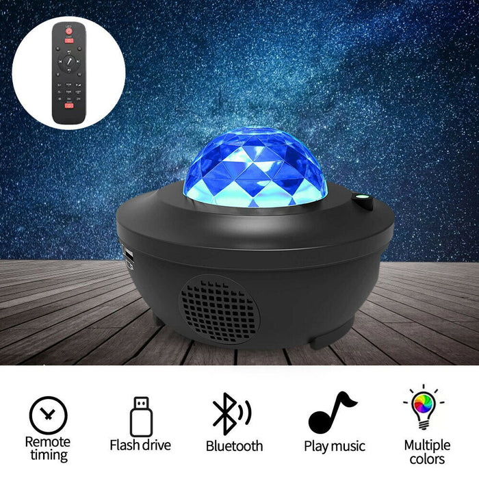 LED Galaxy Starry Night Light Projector Ocean Star Sky Party Baby Room Lamp Gift