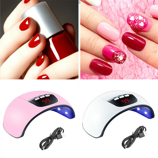 45W Nail Polish Dryer Light UV LED Lamp For Women Quick-Drying Manicure Tools - Smart Living Box