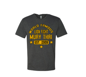 World Famous Muay Thai Shirt - Charcoal