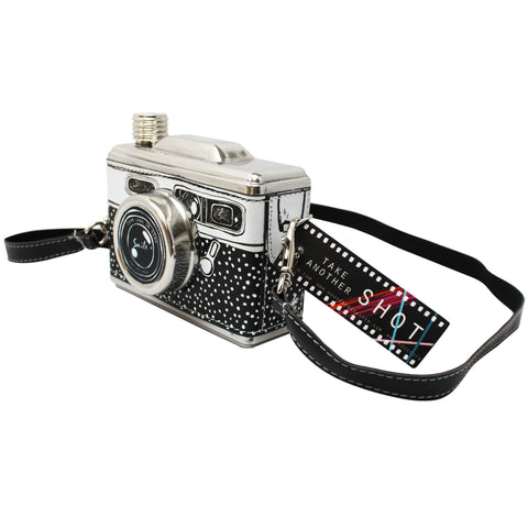 Black And White Camera Hip Flask - House of Disaster