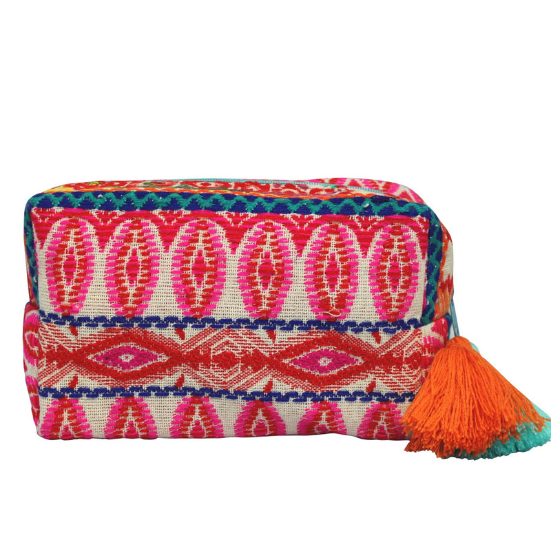 Embellished Pouch Bag - Pink
