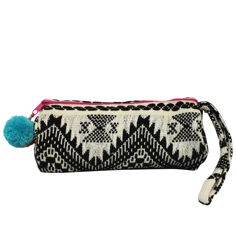 Embellished Tube Make up Bag - Black