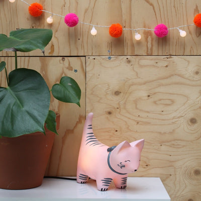 Over The Moon Cat Lamp