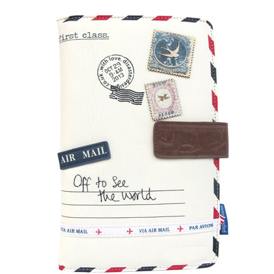 House of Disaster Paper Plane Cream Travel Wallet
