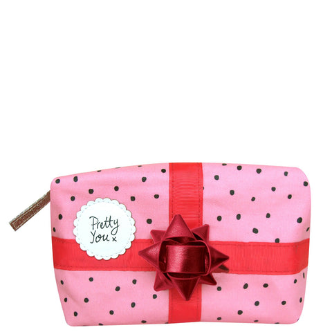 House of Disaster Pompom Tutti Pink Make Up Bag
