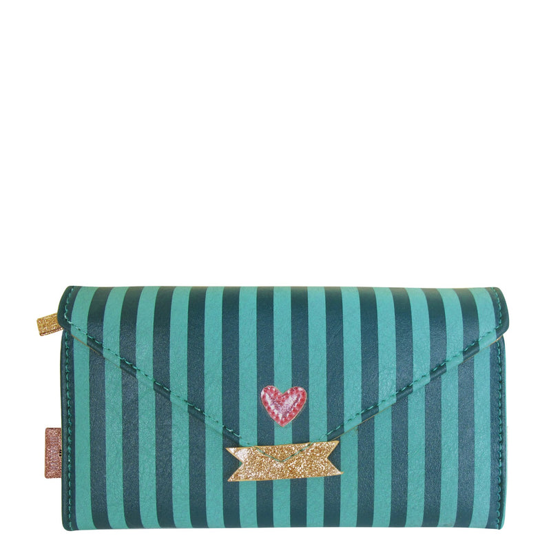 House of Disaster Pompom Tutti Stripe Wallet - House of Disaster