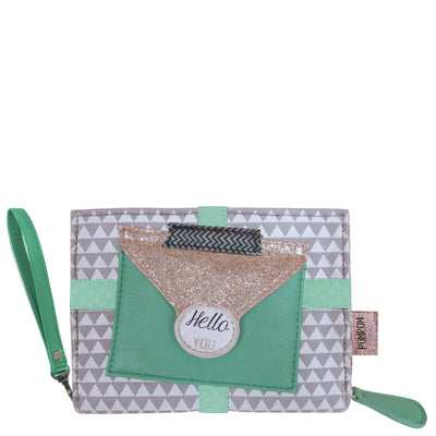 House of Disaster Pompom Tutti Triangle Mini Clutch